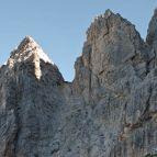 Sentiero Bonacossa, die erste Scharte
