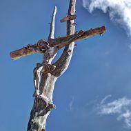 Dolomiten - Kreuz am Crespeinajoch/Puez-Hochfläche