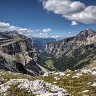 Dolomiten - Der Langental-Canyon nach Wolkenstein