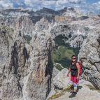Ausblick am Sella-Plateau - Hier am Abstieg zum Grödnerjoch über das teilgesicherte Val Setus