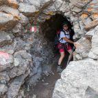 Der erste, ca. 50m lange Tunnel
