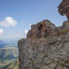 Alte Felsstellungen des Dolomitenkrieges