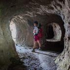 Das zweite, ca. 300m lange Tunnel- und Höhlensystem
