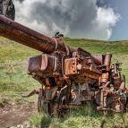Historisches Geschütz aus dem Dolmitenkrieg