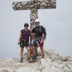 Am Gipfel des Plattkofels (2958m)