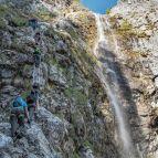 Einstieg - Leiter, Wasserfall