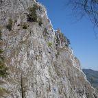 Kletterroute im oberen Teil