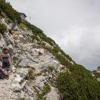 Hochstaufen - Abstieg auf dem Normalweg
