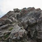 Kletterstelle beim Gipfelaufstieg (Piz Buin)