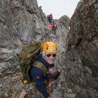 Kletterstelle beim Gipfelaufstieg
