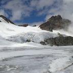 Der Gletscher in Richtung Silvrettahorn