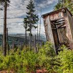 Große Aussicht beim kleinen Häuschen auf 1210m (Nationalpark Bayerischer Wald)
