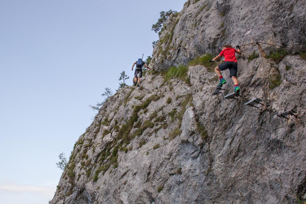 Klettersteig Traunstein : Traunstein im salzkammergut naturfreundesteig pepes bayerwaldpfade